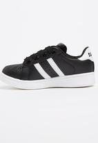 SOVIET - Sneaker With Stripe Detail Black