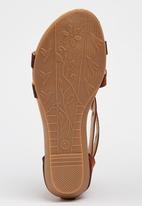 Pretty Feet - Girls  Tassel Sandal Mid Brown