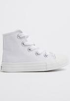 SOVIET - Viper hi cut canvas sneaker - white mono