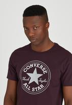 Converse - Short Sleeve Core Tee Dark Purple