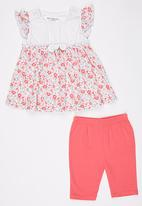 POP CANDY - Printed Dress  And Pant Set Multi-colour