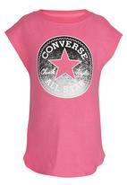 Converse - Dropped Shoulder Tee Mid Pink