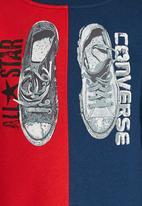 Converse - Split Sneaker Crew Top Navy