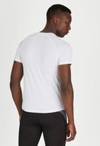 Lithe - Splinter Spandex Short Sleeve White