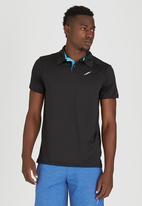 Lithe - Spandex Golfshirt Black