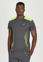 Lithe - Moisture Management Tee Grey and Yellow