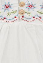 POP CANDY - Blouse with Flower Embroidery Detail White