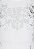 GUESS - Embellished  Logo Tee White