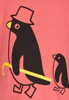 POP CANDY - Penguin Tshirt Coral