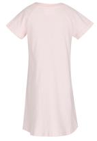 See-Saw - T-shirt Dress with Foil Print Pale Pink