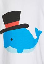 POP CANDY - Dolphin Tshirt White