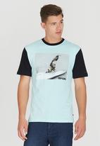 Rip Curl - Uno Fin Classic T-Shirt Pale Blue