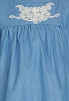 POP CANDY - Denim Blouse Mid Blue