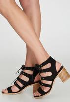 Billini - Winona Lace-up Heels Black