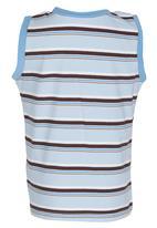 POP CANDY - Stripe Vest Pale Blue