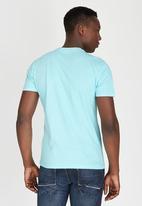 POLO - Classic Dual Print Crew-Neck T-Shirt Blue