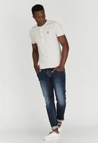 Polo Jeans Co. - Henley Neck T-Shirt Stone