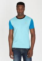 POLO - Classic Colour Block Crew-Neck T-Shirt Pale Blue