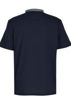 Retro Fire - Boys Mandarin Collar Tee Navy