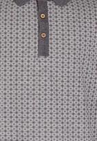 Retro Fire - Boys Button Down Golfer Grey