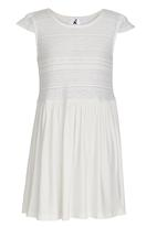 Rebel Republic - Cap Sleeve Dress Cream