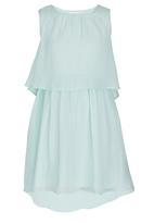 Rebel Republic - Plain Chiffon Dress Mid Green
