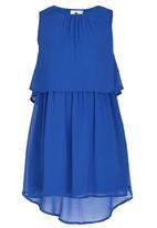 Rebel Republic - Plain Chiffon Dress Blue