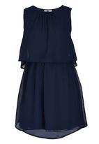 Rebel Republic - Plain Chiffon Dress Navy