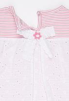 POP CANDY - Printed Stripe Vest Pale Pink