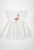 POP CANDY - Flamingo Dress White
