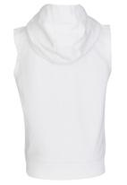 London Hub - Sleeveless Hooded White