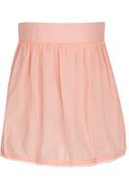 See-Saw - Pom-pom Skirt Mid Pink