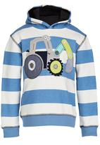 POP CANDY - Boys  Tractor  Hoody Mid Blue