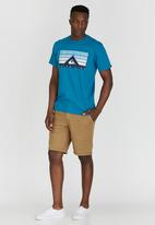Quiksilver - Short Sleeve Classic Fit Tee Blue