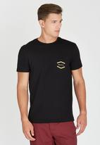 RVCA - Double Hex Pocket T-Shirt Black