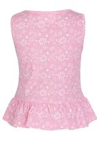 See-Saw - Peplum Top Pale Pink