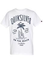 Quiksilver - Shark Island Boys Tee White