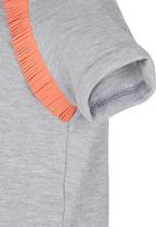 See-Saw - T-Shirt with Fringe Grey
