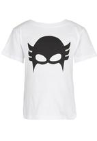 See-Saw - Superhero Tee with Cape White