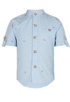 POP CANDY - Printed Shirt Pale Blue