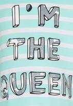 Soobe - Printed Im The Queen Tee Green