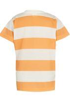 Soobe - Printed Stripe Tee Orange