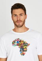 Billabong  - Africa Stickerwave Short Sleeve T-Shirt White