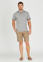 JEEP - Short Sleeve Plain Golfer Grey