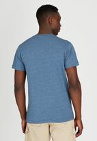 JEEP - Short Sleeve Printed Dirty Dye T-Shirt Blue