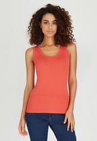 Passionknit - Scoop Neck Vest Orange