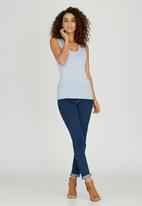 Passionknit - Studded Scoop Neck Vest Pale Blue
