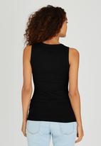 Passionknit - Studded Scoop Neck Vest Black