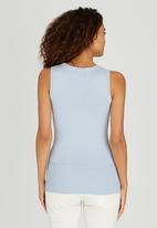 Passionknit - Scoop Neck Vest Pale Blue