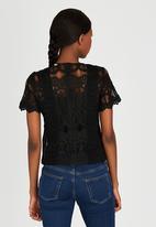 CRAVE - Embellished Top Black